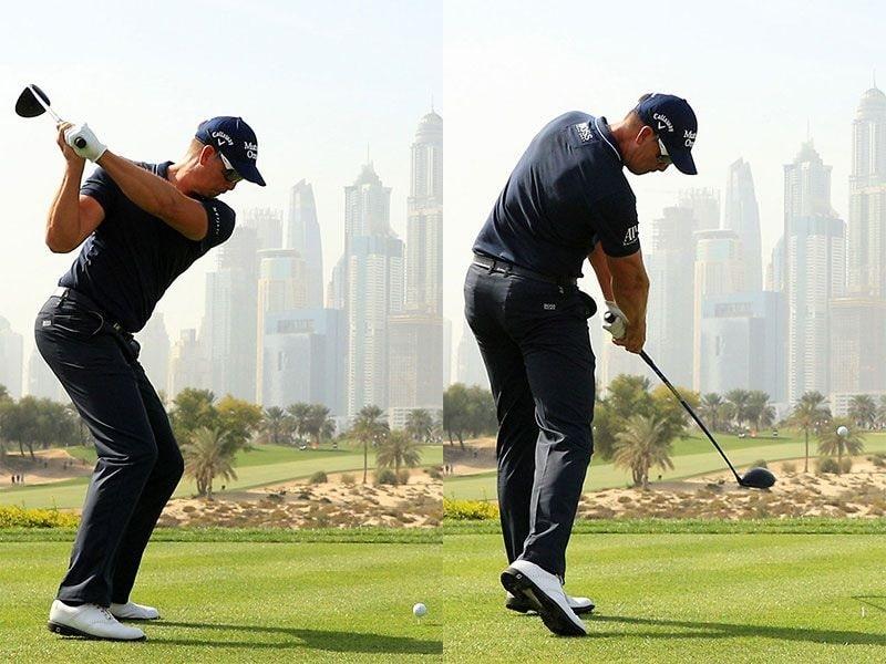Kỹ thuật swing golf chính là cú xoay người để đánh bóng