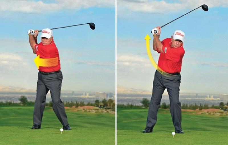 Tư thế backswing trong kỹ thuật swing golf