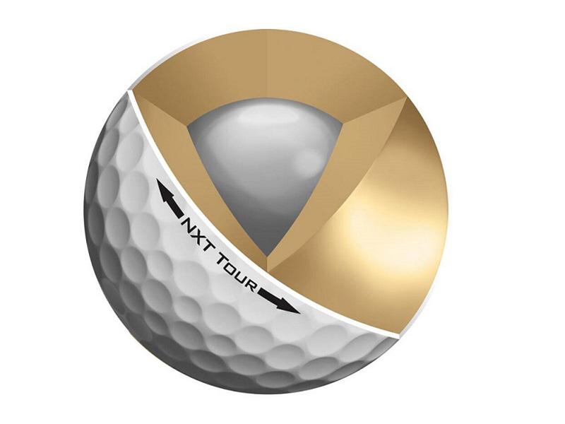 Quả bóng golf làm bằng gì và hình vẽ mô tả quả bóng 3 lớp