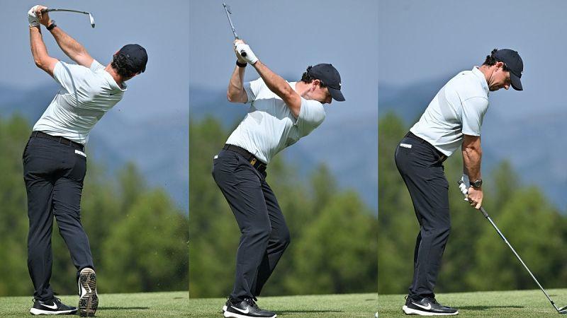 Golfer cần đứng với tư thế chuẩn trước khi swing