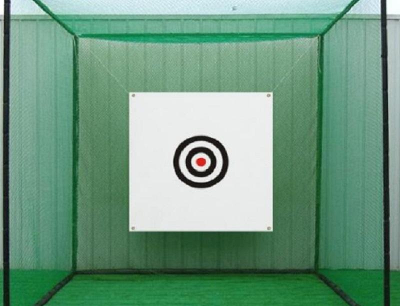 Nếu luyện tập ngoài trời, bạn nên mua loại tâm phát bóng golf có chất liệu vải dù