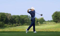 tư thế đánh golf