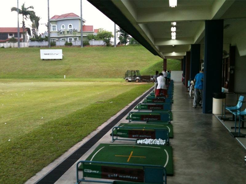 Sân tập golf Rạch Chiếc có tổng diện tích khoảng 5ha
