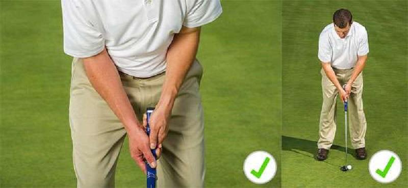 Cách cầm gậy chuẩn khi học swing golf