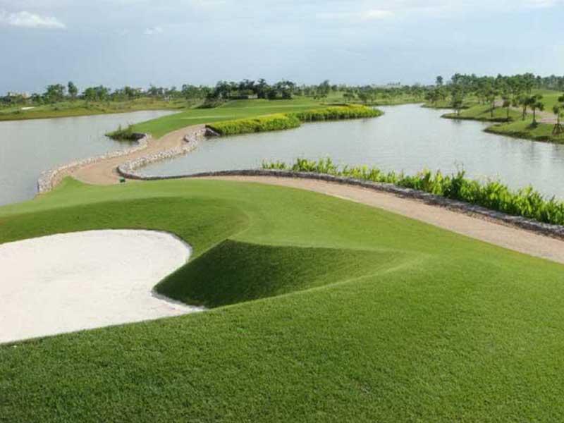 Sân golf Vân Trì có thiết kế đẹp và ấn tượng