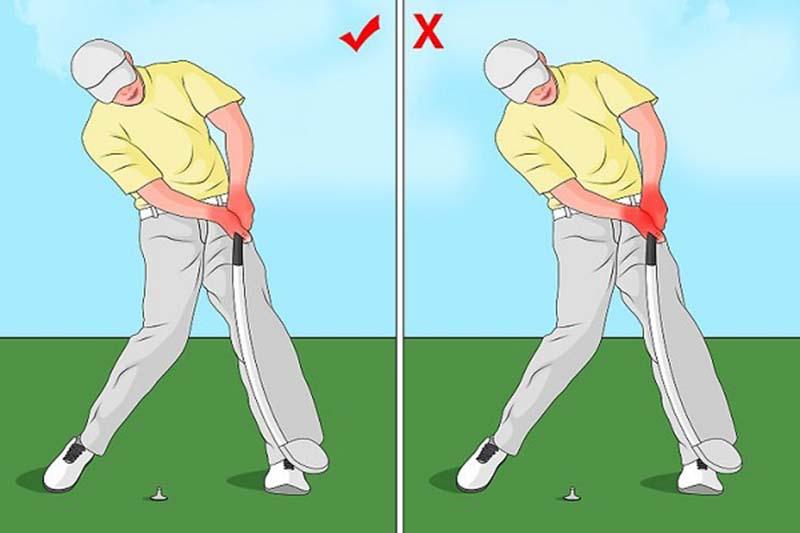 Phần đầu di chuyển quá nhiều là lỗi sai mà các golfer thường mắc phải