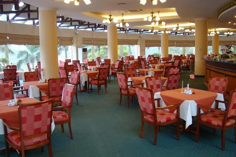 Nhà hàng Swing Restaurant là nơi để golfer thư giãn và ăn uống
