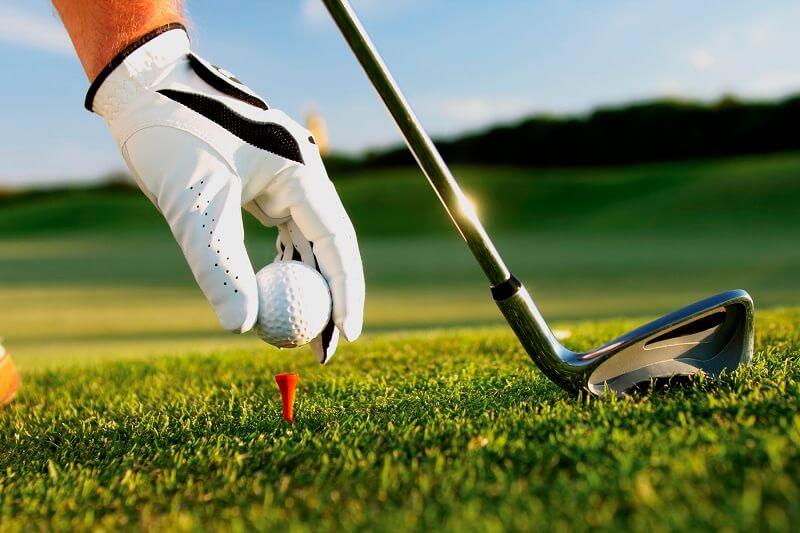 Sân golf được trồng bằng loại cỏ đặc biệt nên xanh mướt quanh năm