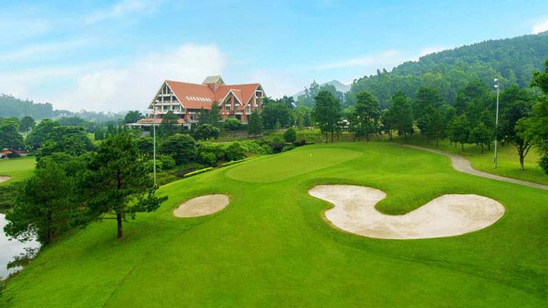 Sân golf Tam Đảo được xây dựng và thiết kế trên vị trí địa lý tuyệt vời