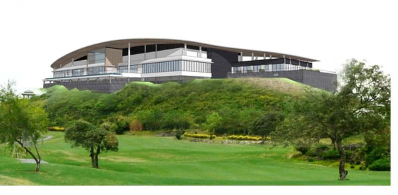 Nhà câu lạc bộ hiện đại của sân golf Hoàng Gia Ninh Bình