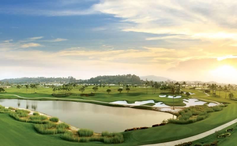 Cảnh quan tuyệt đẹp của sân golf Sông Giá Hải Phòng