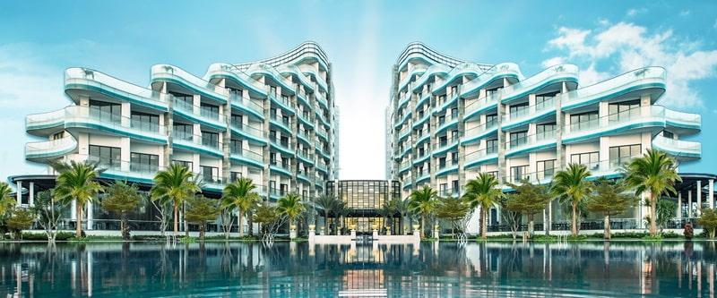 Khu nghỉ dưỡng này có biệt thự nhiệt đới, khách sạn 5 sao, công viên, Trung tâm nông nghiệp,...