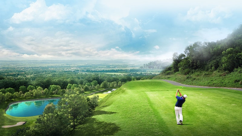 Do nằm sát biển kèm hướng gió không ổn định nên các đường golf được thiết kế khá đặc biệt.